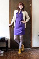 Matiko shoes - BB Dakota dress - Look From London tights - vintageintage cardiga