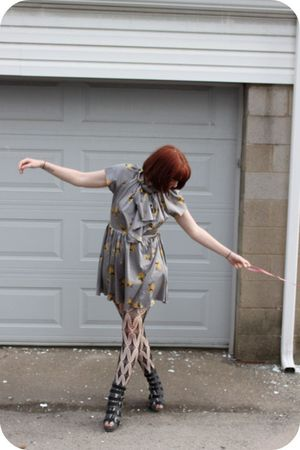 Peoples Market dress - Jeffrey Campbell shoes - UO tights