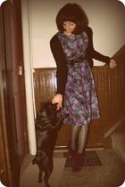 vintage dress - Jeffrey Campbell shoes - modcloth cardigan - Urban Outfitters ti