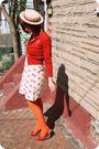 Vintage-cardigan-tulle-dress-modcloth-tights-ophelie-hats-hat-pink-studi