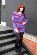 Betsey Johnson dress - deena and ozzy shoes - Betsey jonson tights - Alex  Chloe