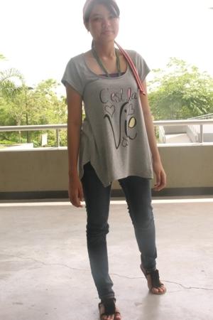 Topshop blouse - Jag jeans - Topshop shoes