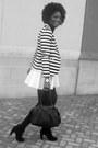 White-custom-made-skirt-black-seychelles-boots-white-nordstrom-blazer