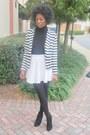 Black-seychelles-boots-white-nordstrom-blazer-white-custom-made-skirt