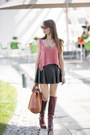 Crimson-leather-zara-boots-burnt-orange-leather-zara-bag