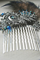 sky blue hair comb accessories