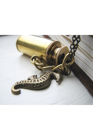 necklace - brass accessories