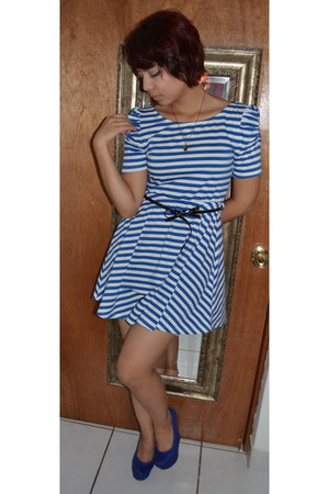 blue papaya dress - blue Payless heels