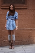 Wet Seal dress - Via Spiga socks - Steve Madden boots