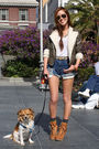 Green-forever-21-jacket-white-lna-t-shirt-blue-levis-shorts