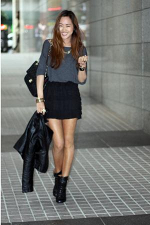 top - skirt - boots