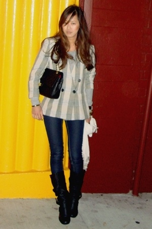 vintage from Search & Destroy blazer - Arden B jeans - Steve Madden boots