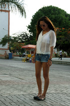 top - hollister shorts - Charlotte Russe shoes