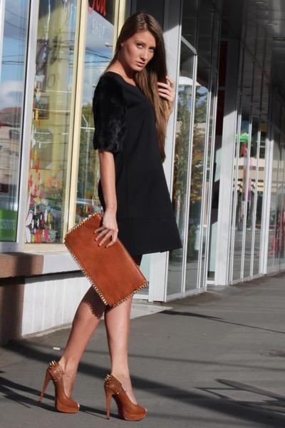 imperial dress - purse - heels