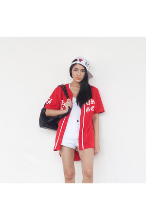 FUXURY blouse - FUXURY hat - EMODA bag