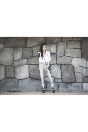 Rebecca Minkoff bag - Joes Jeans jeans - ClubCouture blouse - madewell bracelet
