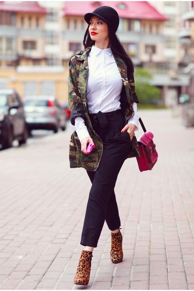 Diane Von Furstenberg boots - asos jacket - Cambridge Satchel Company bag