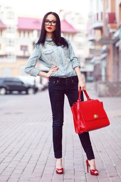 red One by Michaellla Barri Collection bag - Casadei heels