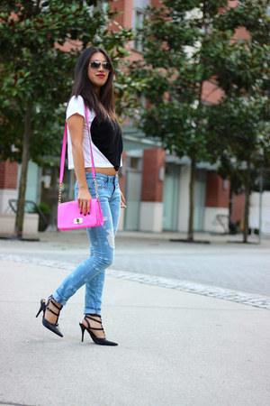 merona bag - skinny Gap jeans - sahara Shoedazzle heels