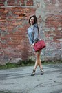 Heather-gray-zara-dress-silver-kensie-coat-red-selma-michael-kors-bag