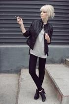 vintage from Ebay jacket - boyfriends t-shirt - Kate Moss for Topshop leggings -