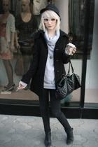 Topman hat - Sepulla coat - H&M - Topshop jeans - Rendez-Vouz shoes - Miu Miu