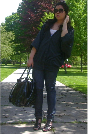 Mango jacket - levis capital e jeans - Ninewest shoes - erotokritos purse