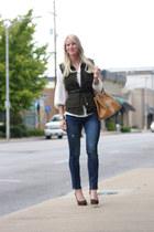 Zara blouse - Zara jeans - Prada bag - Christian Louboutin heels