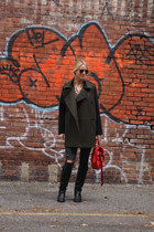 Mango coat - Gucci boots - Current Elliott jeans - PROENZA SCHOULER bag
