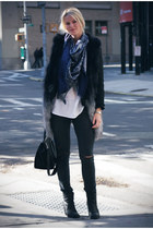 Celine bag - mm6 boots - Current Elliott jeans