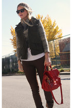 vince sweater - Dolce Vita boots - J Brand jeans - PROENZA SCHOULER bag