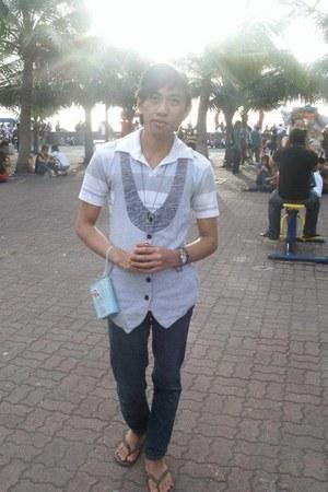 light blue feng xui shirt - sky blue angry birds product purse