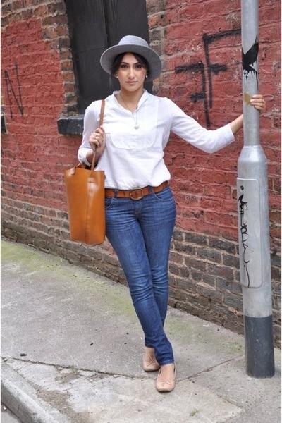 vintage necklace - vintage hat - Zara bag - H and M belt - Topshop pumps