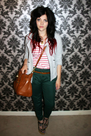 asos heels - periwinkle preppy style Primark blazer