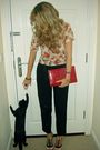 Red-topshop-blouse-black-asos-pants-beige-topshop-shoes-red-primark-bag