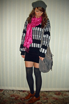 hat - scarf - vintage sweater - accessories - socks - shoes