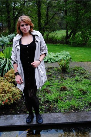 beige vive jacket - black Jette Riis shoes - black Primark tights - GINA TRICOT
