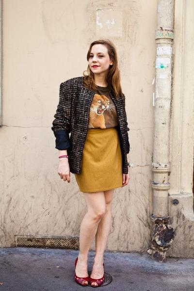 leather ANDRE heels - tweed Hippy Market sacr coeur Paris jacket