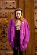 maroon Hippy Market le Marais cardigan - magenta Hippy Market le Marais shorts