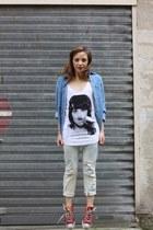 coton Eleven Paris top - coton H&M jeans - coton vintage shirt