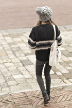 black faux python Zara boots - army green Zara jeans