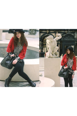 Hotwind boots - Hotwind hat - Yanny London leggings - Zara shirt - coach bag