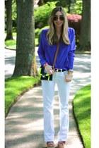 neutral leather chain Poshlocket bracelet - white J Brand jeans