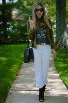 dark brown Alexander Wang bag - black Payless boots - white J Brand jeans