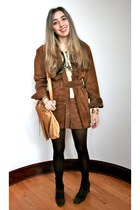 dark brown suede booties Nine West boots - brown suede Ralph Lauren coat