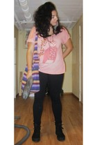 pink Monki t-shirt - black Rut mfl jeans - black Scorett shoes