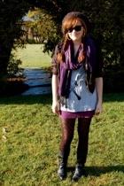 American Apparel skirt - forever 21 scarf - vintage shoes - H&M jacket - Obesity