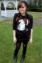 trash & vaudeville shirt - Urban Outfitters hat - H&M jacket - American Apparel