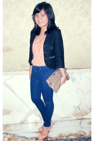 Christian Louboutin shoes - Topshop jeans - Topshop blazer - trfzara top - balen