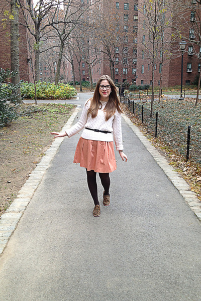 cream Ralph Lauren sweater - bubble gum Forever 21 dress